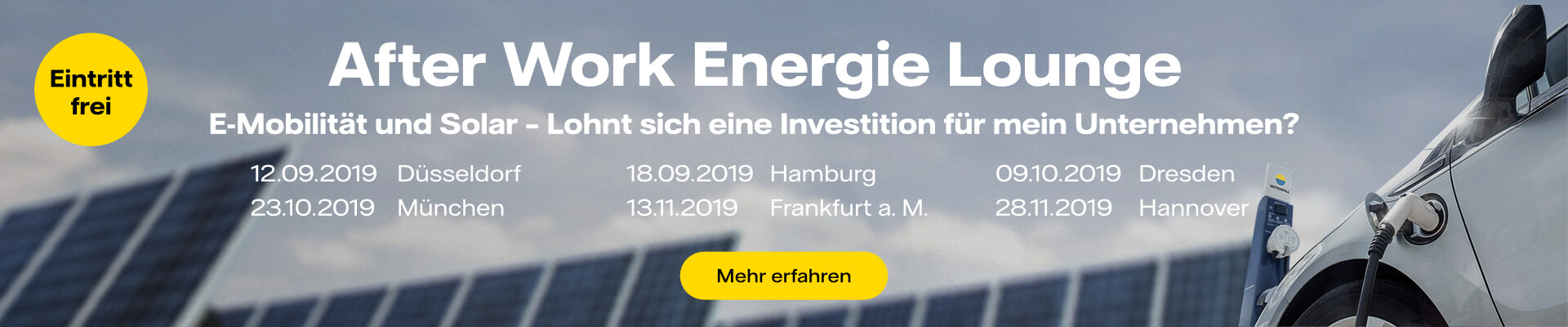 Banner Energie Lounge Events 2019